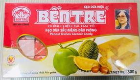Kẹo dừa đậu phộng sầu riêng Bến Tre 300gram