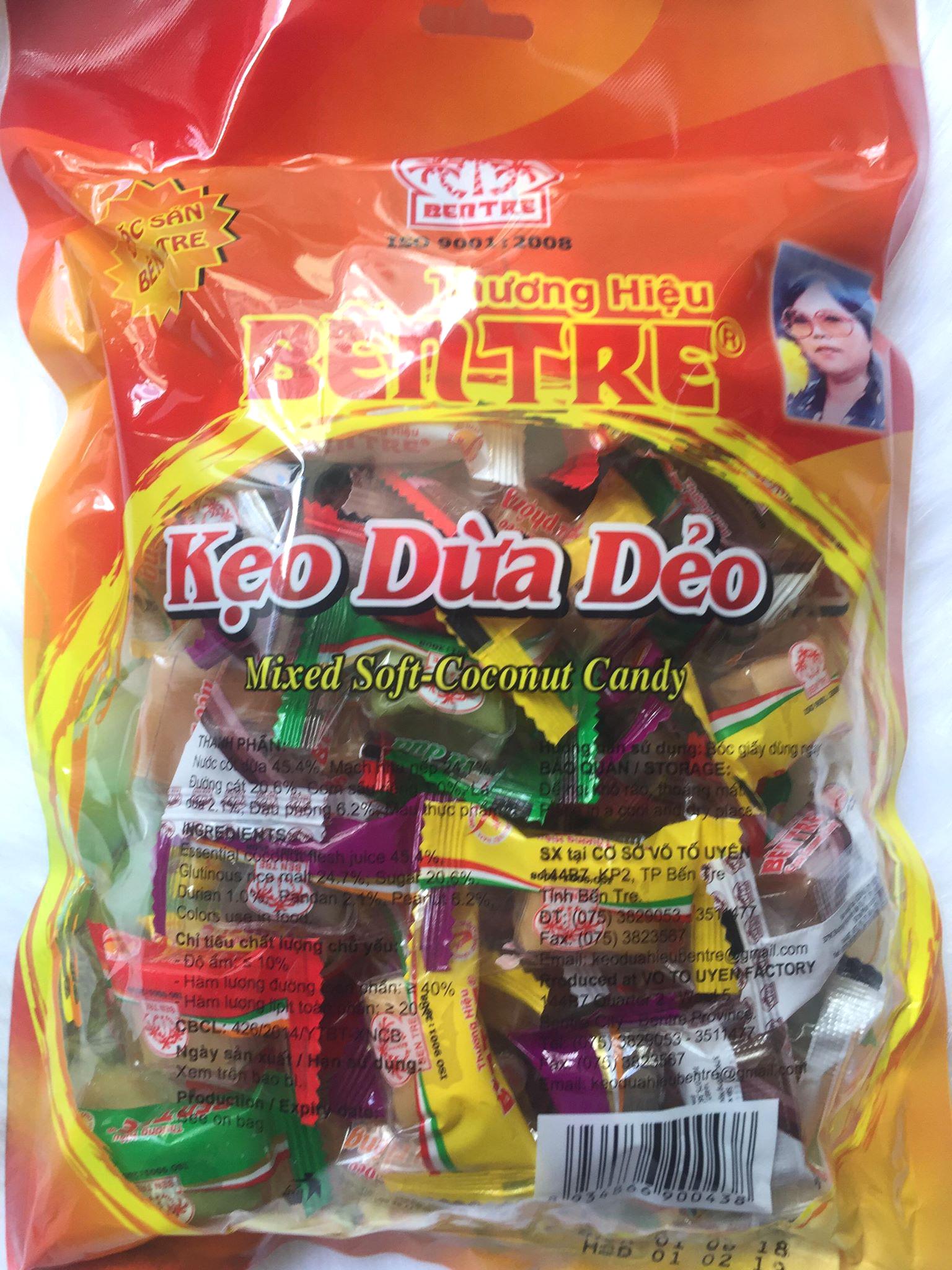 Kẹo dừa dẻo thập cẩm bến tre