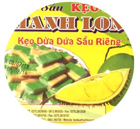 Kẹo dừa sầu riêng lá dứa (Gói giấy, bao bì)