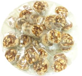 Mới 2021- Kẹo khóm tắc cuộn bánh tráng đậu phộng 100gram