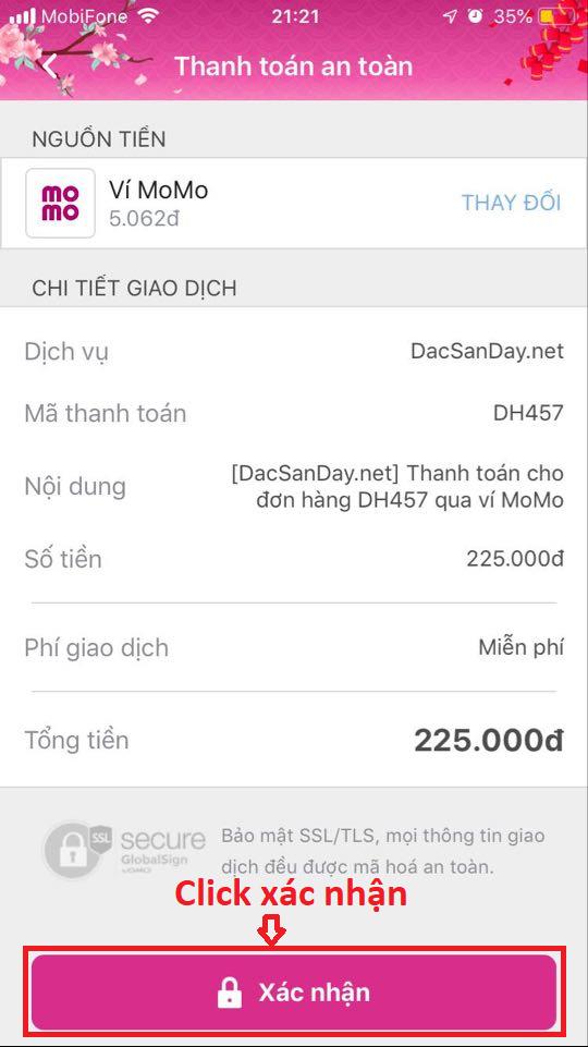 Hướng dẫn thanh toán online qua ví Momo
